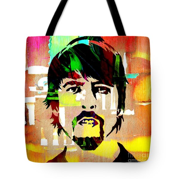 Dave Grohl Foo Fighters Tote Bag by Marvin Blaine