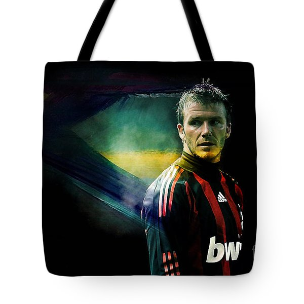 David Beckham Tote Bag by Marvin Blaine