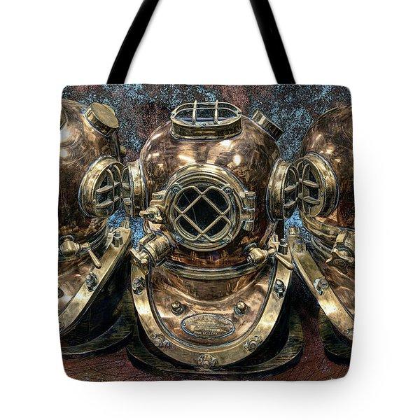 3 Deep-diving Helmets Tote Bag