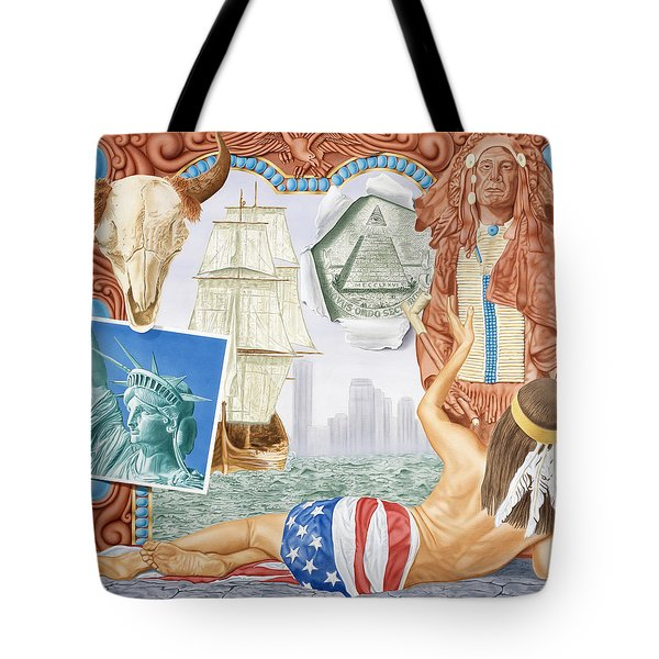 Destruction Of Native America Tote Bag