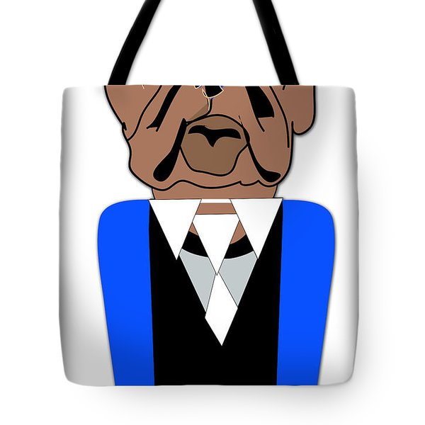 English Bulldog Painting Tote Bag by Marvin Blaine