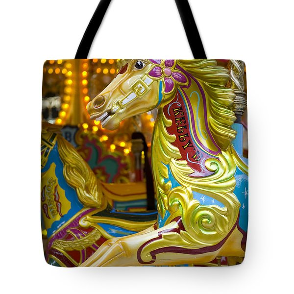 Tote Bag featuring the photograph Fairground Carousel by Lee Avison
