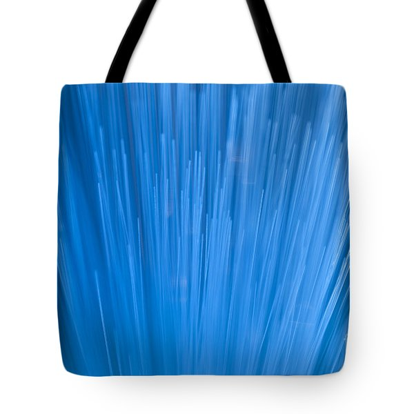 Fiber Optics Close-up Abstract Tote Bag