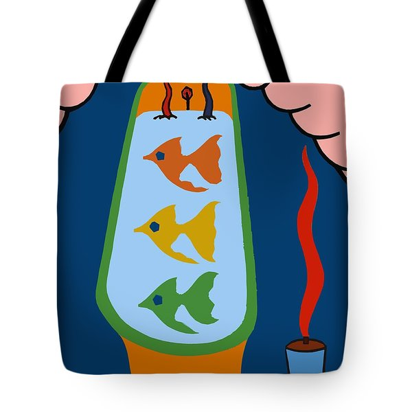 3 Fish In A Tub Tote Bag by Patrick J Murphy