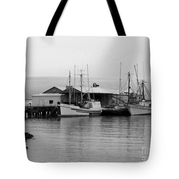 3 Fishing Boats Tote Bag