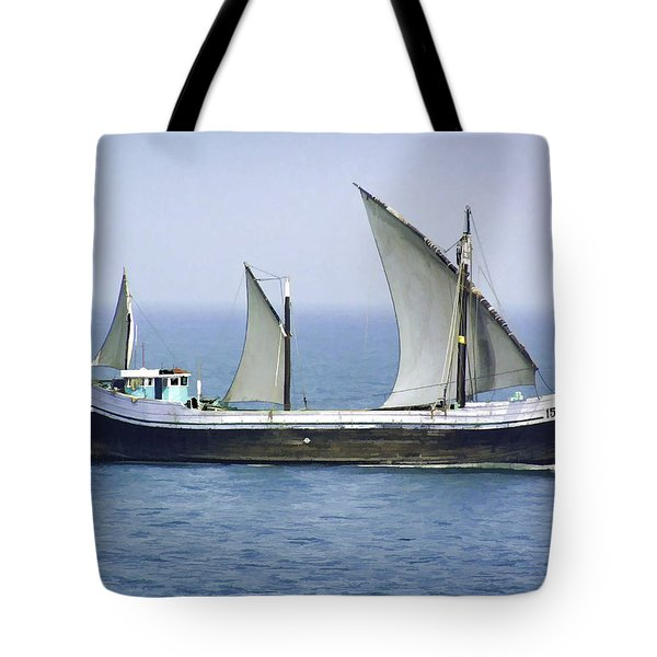 Fishing Vessel In The Arabian Sea Tote Bag
