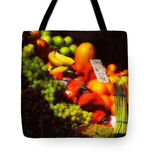 Tote Bag featuring the photograph 3 For 2 Dollars by Miriam Danar