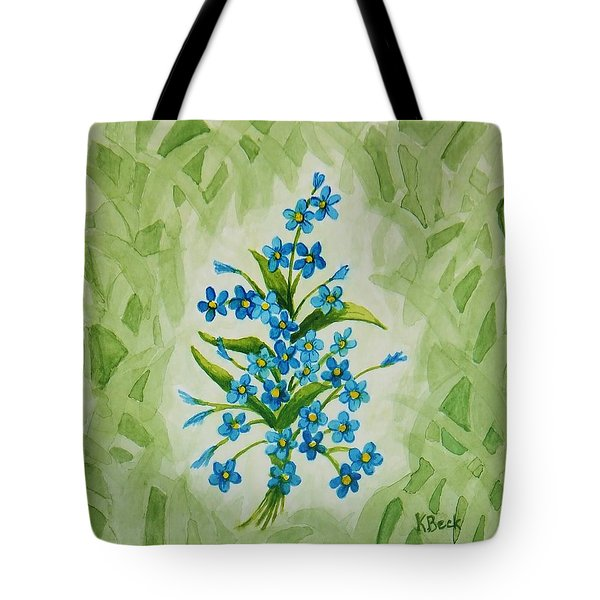 For-get-me-nots Tote Bag