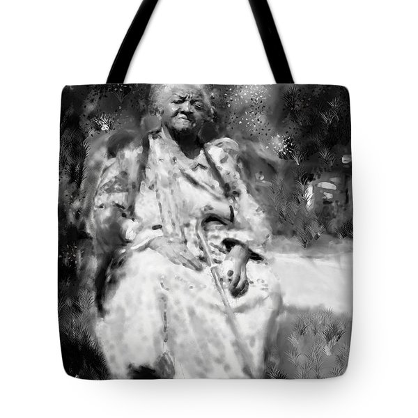 Tote Bag featuring the drawing Former Slave Woman by Vannetta Ferguson