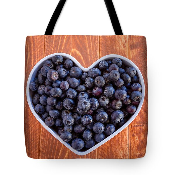 Fresh Picked Organic Blueberries Tote Bag