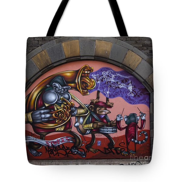 Graffiti House Tote Bag by Brian Roscorla