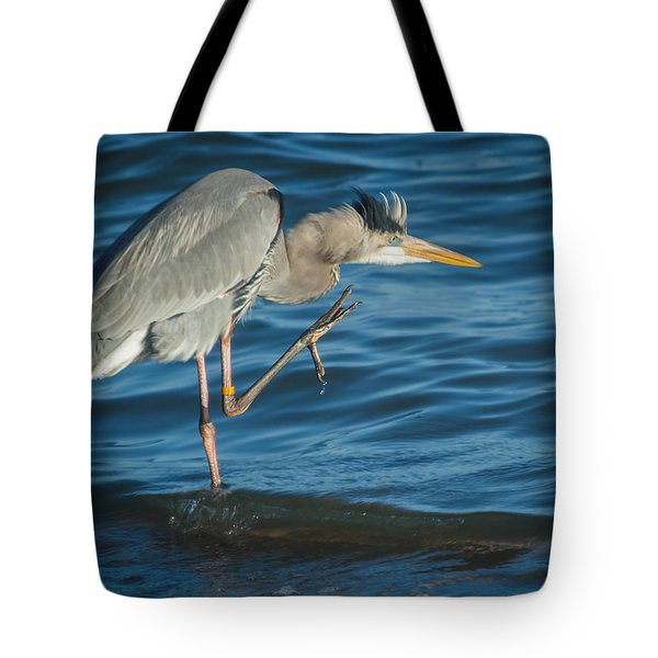 Great Blue Heron Tote Bag by Jane Luxton