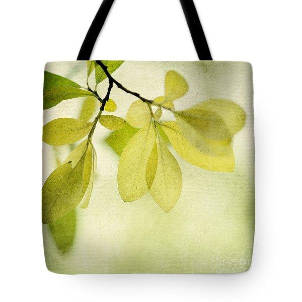 Green Foliage Series Tote Bag by Priska Wettstein