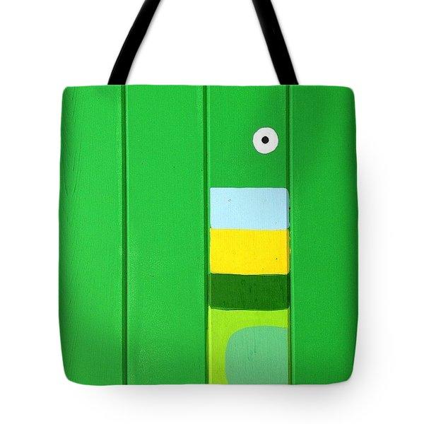 Green Wall Tote Bag