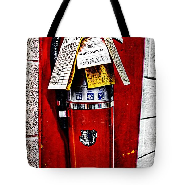 Grungy Fire Extinguisher Tote Bag