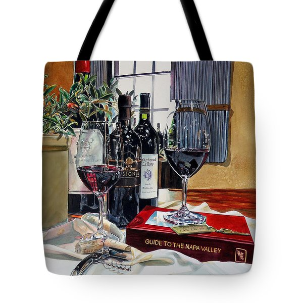 Guide To The Napa Valley Tote Bag