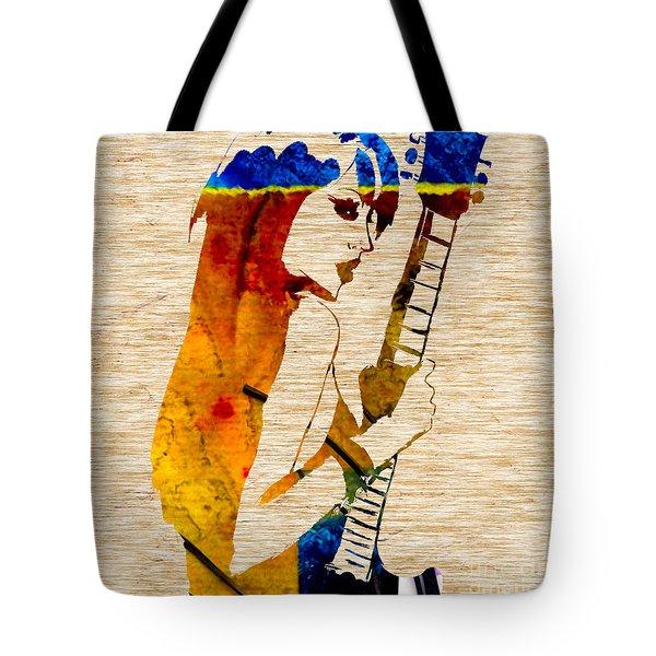 Guitar Goddess Tote Bag by Marvin Blaine