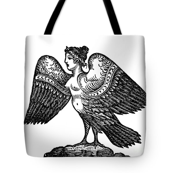 Harpy, Legendary Creature Tote Bag by Photo Researchers