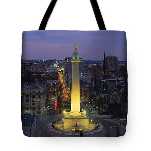 High Angle View Of A Monument Tote Bag