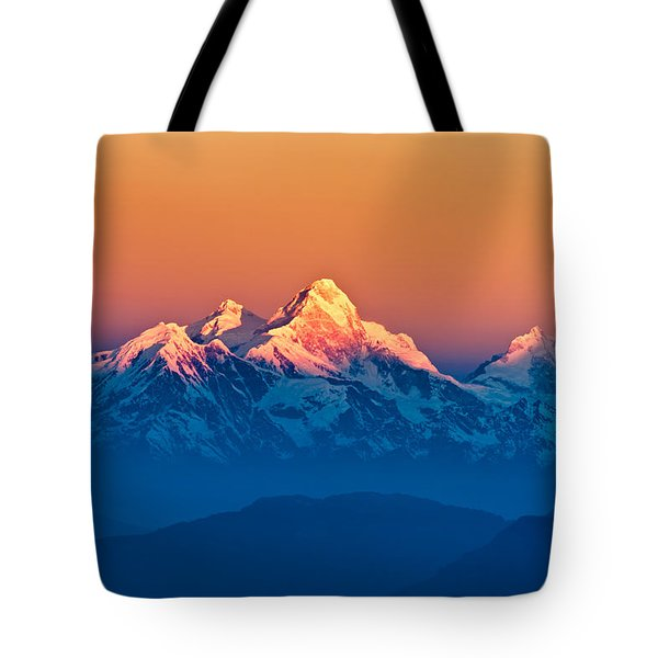 Himalayan Mountains View From Mt. Shivapuri Tote Bag