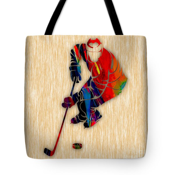 Hockey Tote Bag by Marvin Blaine