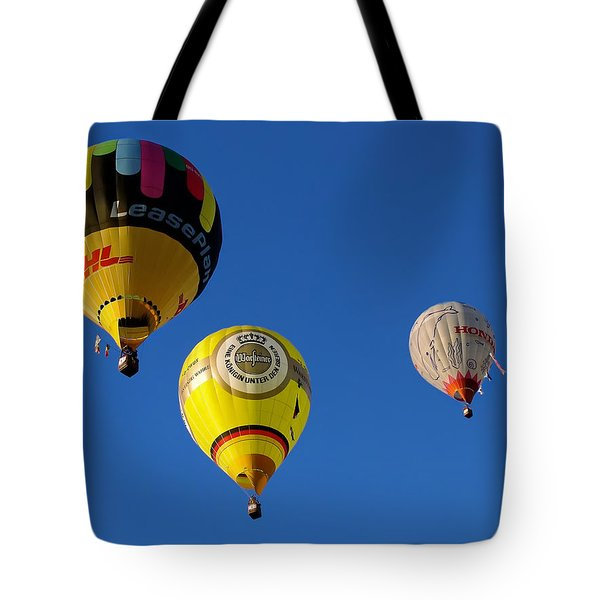 Tote Bag featuring the photograph 3 Hot Air Balloon by John Swartz