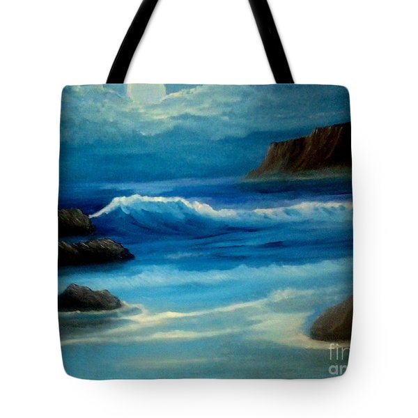 Tote Bag featuring the painting Illuminated by Holly Martinson