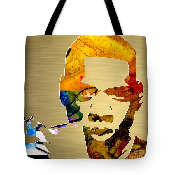 Jay Z Gold Series Tote Bag by Marvin Blaine