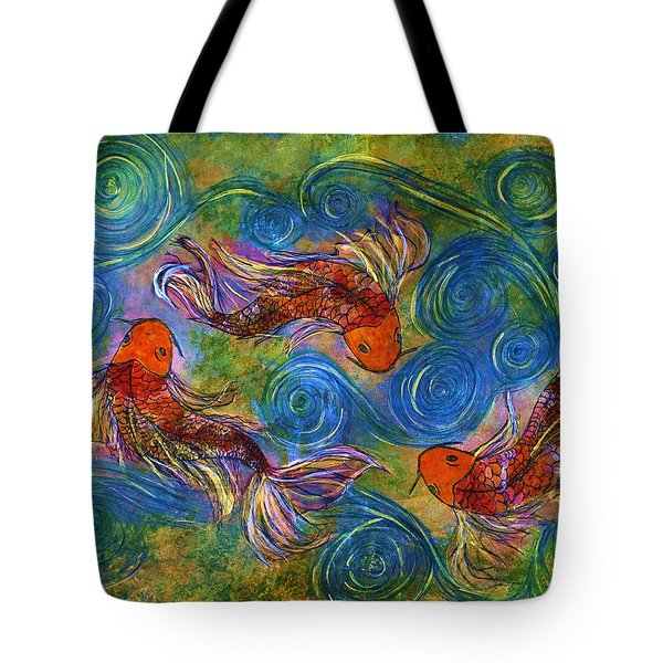 Koi Mating Dance Tote Bag
