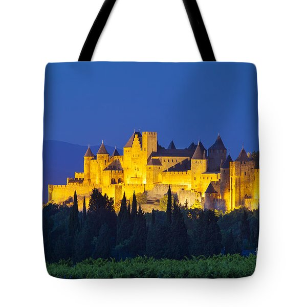 La Cite Carcassonne Tote Bag by Brian Jannsen