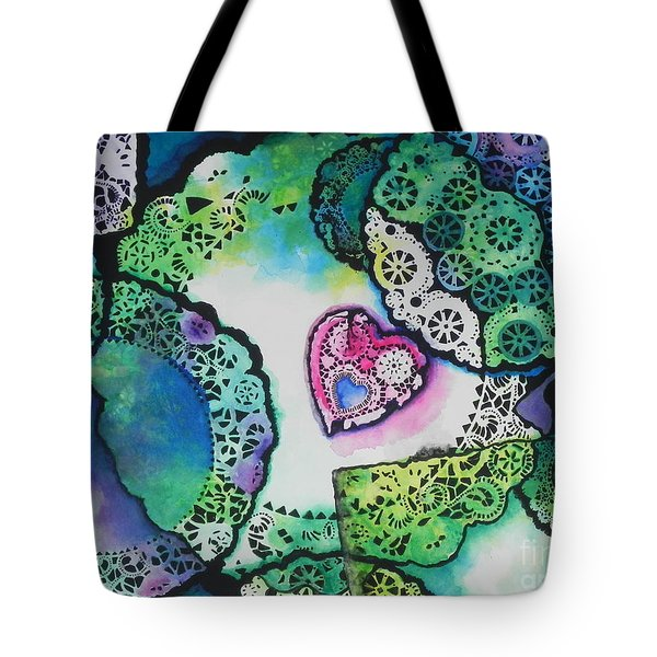Laced Memories Tote Bag by Chrisann Ellis