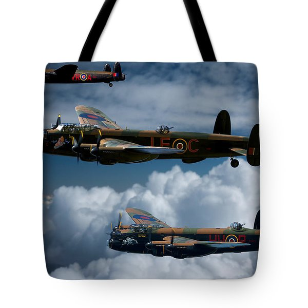 3 Lancaster Bombers Tote Bag