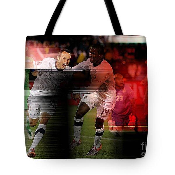 Landon Donovan Tote Bag by Marvin Blaine