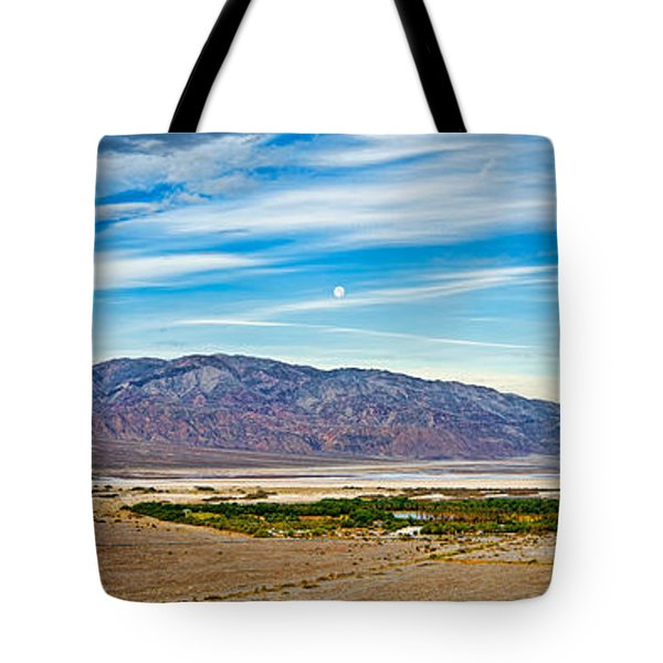 Landscape With Mountain Range Tote Bag