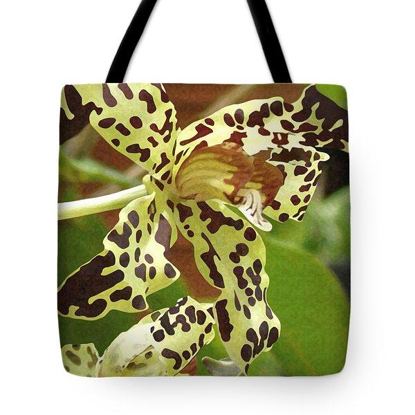 Leopard Orchids Tote Bag