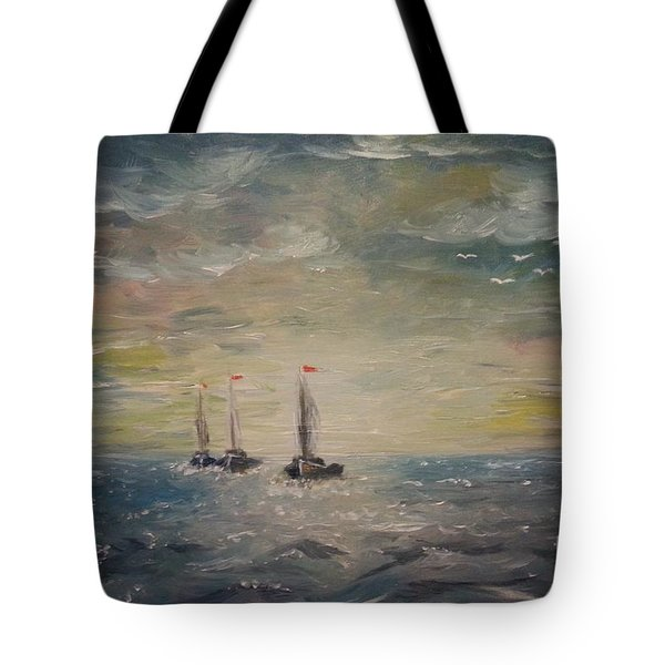 3 Little Boats Tote Bag