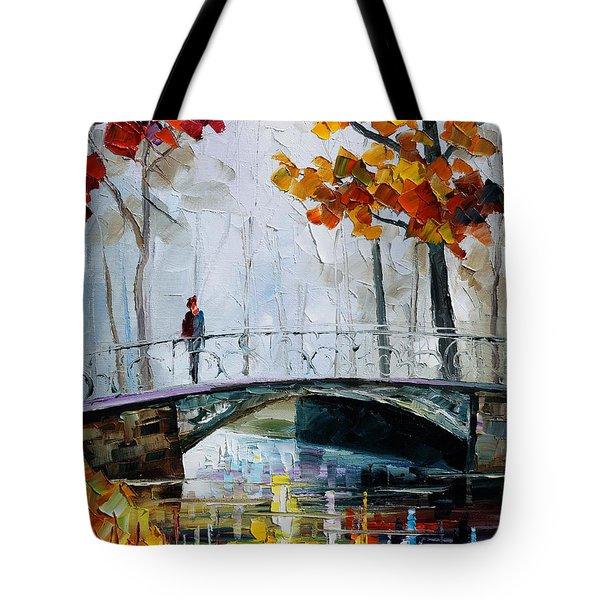 Little Bridge Tote Bag by Leonid Afremov