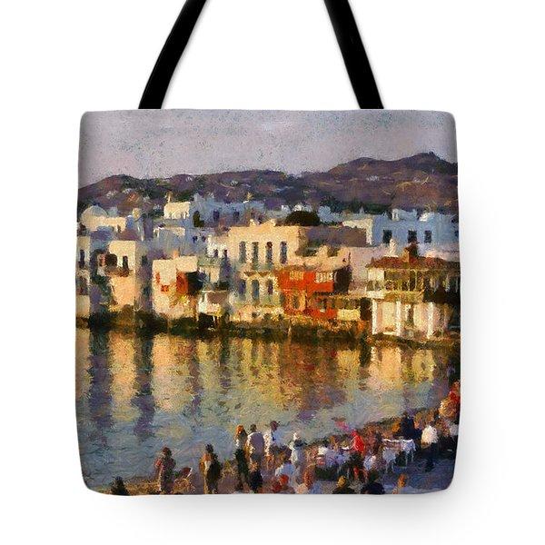 Little Venice In Mykonos Island Tote Bag