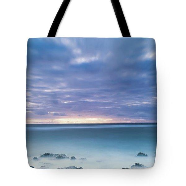 Long Exposure Of The Surf Along Wailua Tote Bag