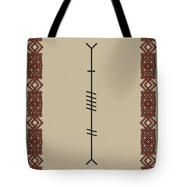 Love Written In Ogham Tote Bag