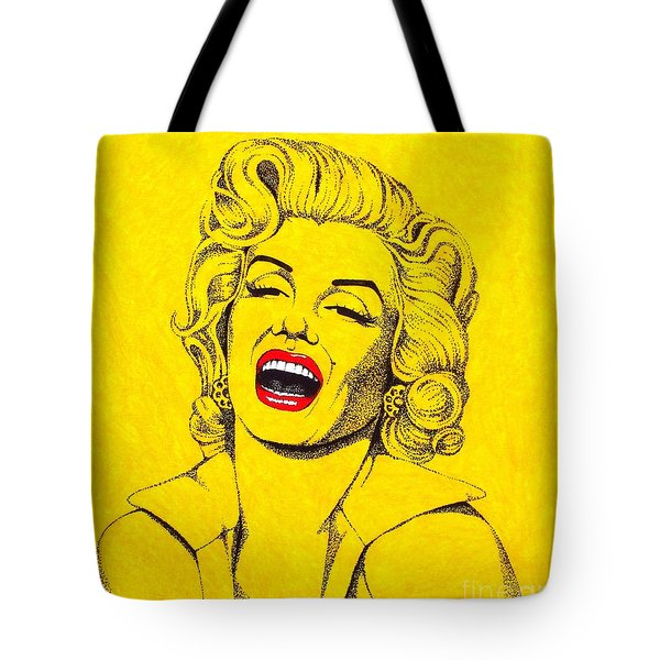 Marilyn In Yellow Tote Bag