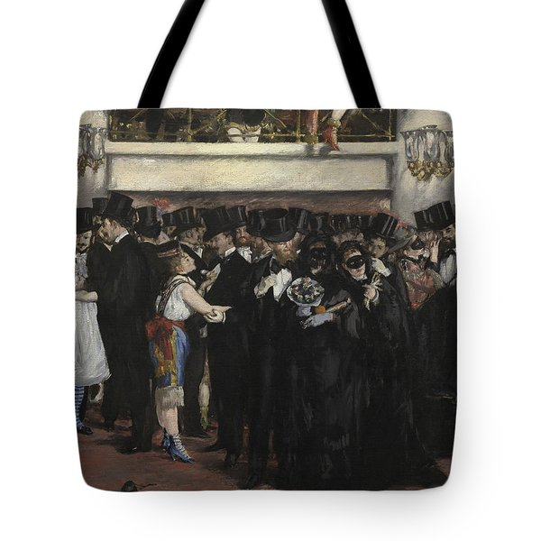 Masked Ball At The Opera Tote Bag by Edouard Manet