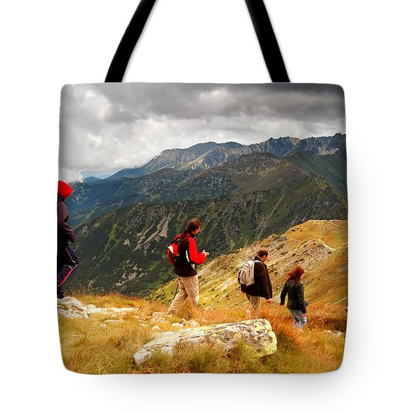 Mountains Stormy Landscape Tote Bag by Michal Bednarek