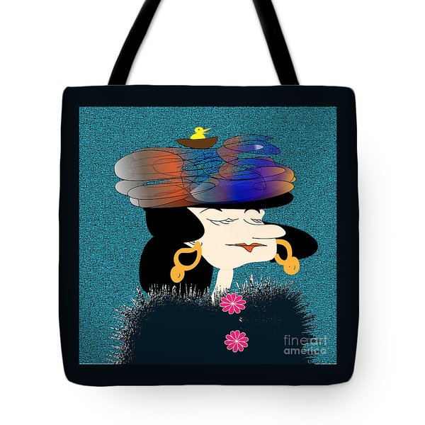 Tote Bag featuring the digital art Mrs. Greenway by Iris Gelbart