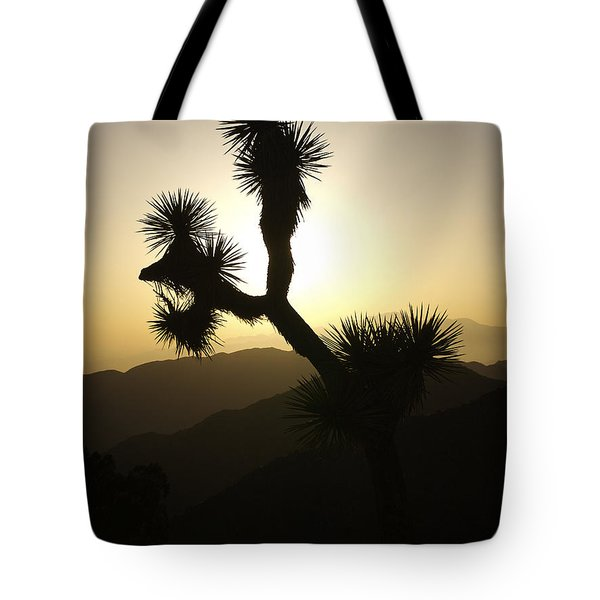New Photographic Art Print For Sale Joshua Tree At Sunset Tote Bag