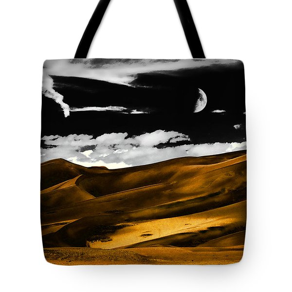 Night At The Great Sand Dunes Tote Bag