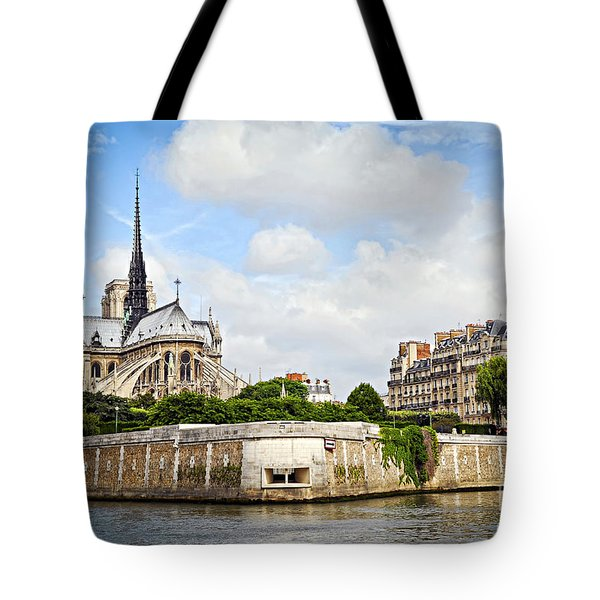Notre Dame De Paris Tote Bag by Elena Elisseeva