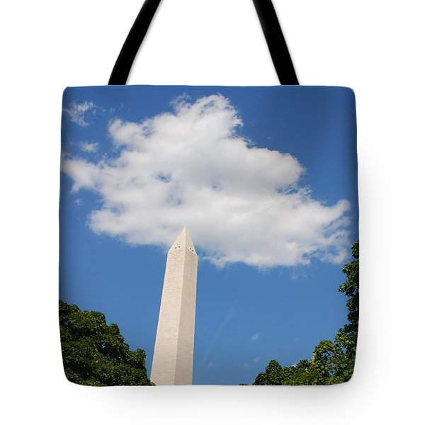 Obelisk Rises Into The Clouds Tote Bag