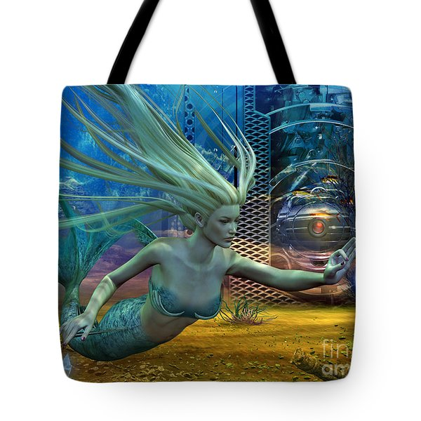 Tote Bag featuring the digital art Of Myths And Legends by Shadowlea Is