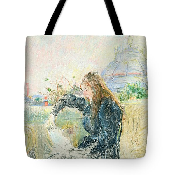 On The Balcony Tote Bag by Berthe Morisot